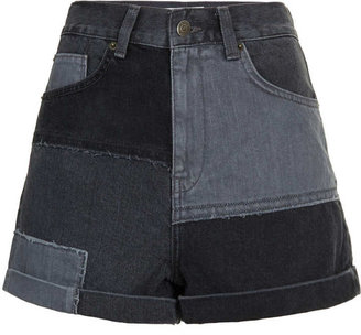 Topshop MOTO Patchwork Mom Shorts