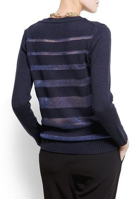 MANGO Merino wool lurex jumper
