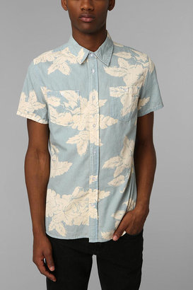 Urban Outfitters Charles & 1/2 Washed-Out Floral Button-Down Shirt