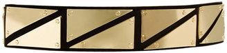 Asos Triangle Metal Plate Detail Waist Belt