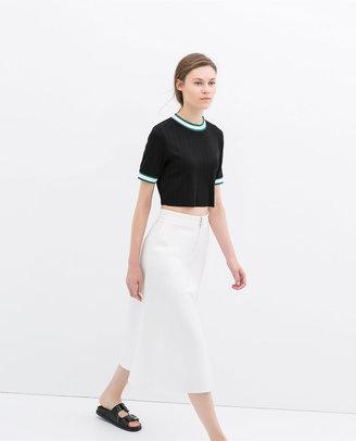 Zara Zipped Skirt