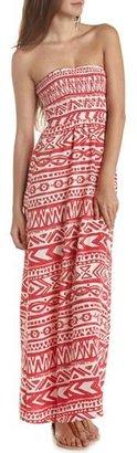 Charlotte Russe Smocked Challis Maxi Dress