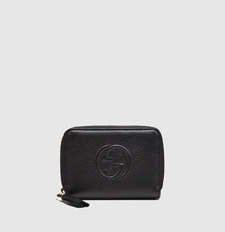 Gucci Soho Leather Zip-Around Disco Wallet