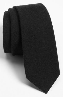 Men's The Tie Bar Solid Wool Blend Skinny Tie $19 thestylecure.com
