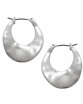 Kenneth Cole New York Silver Small Oval Hoop Earring