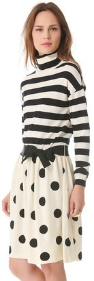 Moschino Stripe & Dot Sweater Dress