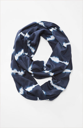 J. Jill Pure Jill tie-dyed stripes infinity scarf