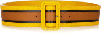 Burberry Shoes & Accessories Color-block leather belt