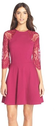 Women's Bb Dakota 'Yale' Lace Panel Fit & Flare Dress $88 thestylecure.com