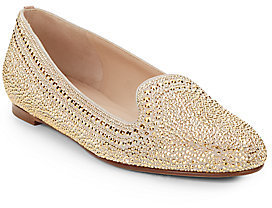 Valentino Studded Suede Smoking Slippers
