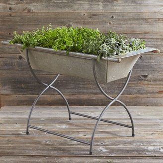 Williams-Sonoma Vintage Galvanized Washtub with Stand