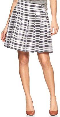 Gap Pleated stripe flounce skirt
