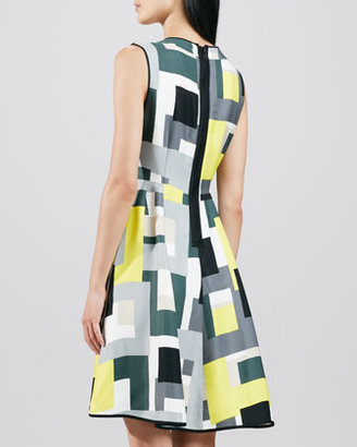 Kate Spade Carol Abstract-Print Dress