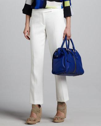 Milly Straight-Leg Crepe Pants