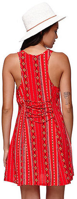 Kylie Minogue Kendall & Kylie Fit & Flare Lace Up Back Dress