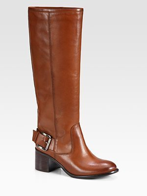 Boutique 9 Biondello Leather Buckle Knee-High Boots