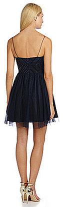 Aidan Mattox Aidan Spaghetti Straps Dress