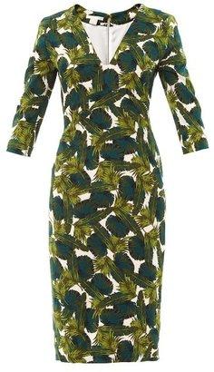 Antonio Berardi Forest-print fitted dress