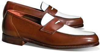 Brooks Brothers The Great Gatsby Collection White and Brown Spectator Loafer