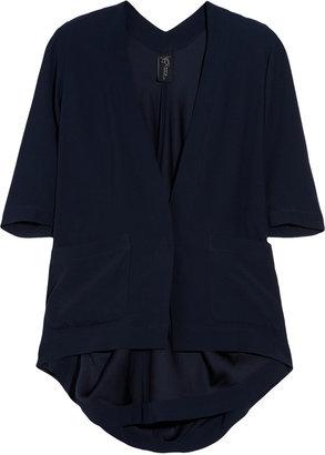 Zero Maria Cornejo Gala draped-back crepe jacket