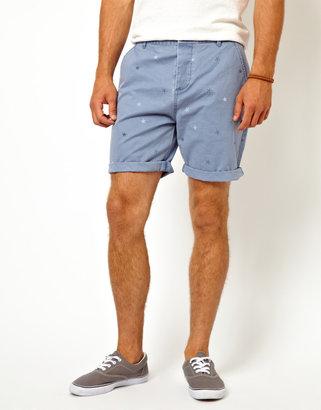 Asos Chino Shorts With Stars Print