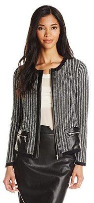 Jones New York Women's Long-Sleeve Zip-Up Cardigan $129 thestylecure.com