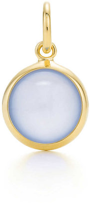 Tiffany & Co. Paloma Picasso®:blue chalcedony dot charm and chain