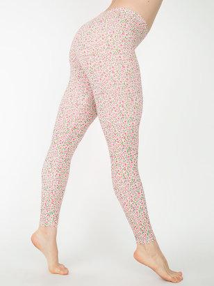 American Apparel Floral Print Cotton Spandex Jersey Legging