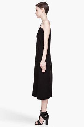 Maison Martin Margiela Black boxy One Shoulder Dress