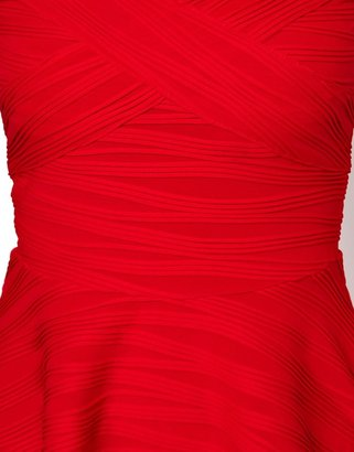 Asos Off Shoulder Skater Dress In Rib.