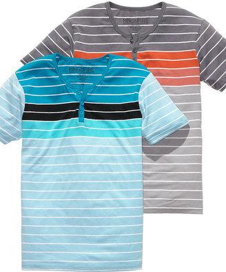 Ring of Fire Shirt, Striped Henley Shirt