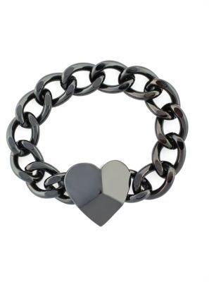 BCBGeneration Chain & Heart Pendant Bracelet