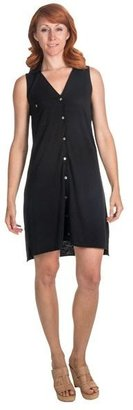 Lilla P Flame Pima-Modal Shirt Dress - Sleeveless (For Women)