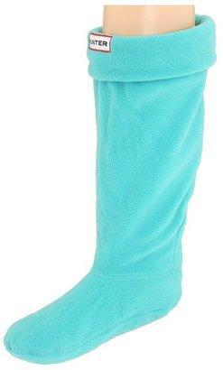 Hunter Fleece Welly Socks (Toddler/Youth) (Turquoise) - Footwear