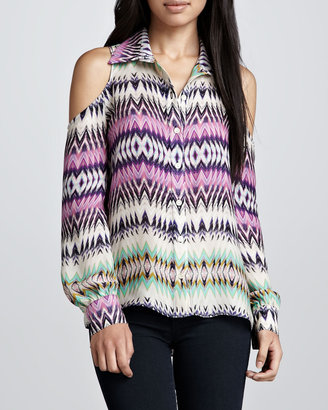 Parker Luella Shockwave Could-Shoulder Blouse