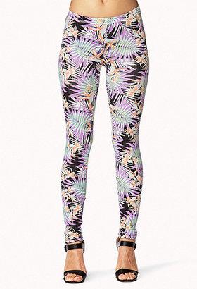 Forever 21 Tropical Neon Leggings