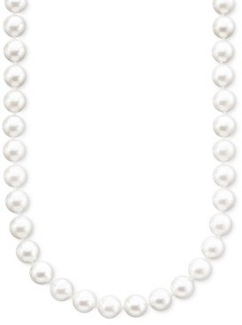 """Belle de Mer Pearl Necklace, 18"""" 14k Gold A+ Akoya Cultured Pearl Strand (6-1/2-7mm)"""