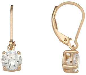 Lord & Taylor 18 Kt Gold Plated Cubic Zirconia Drop Earrings