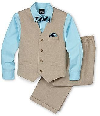 JCPenney Solid Vest Set - Boys 4-10