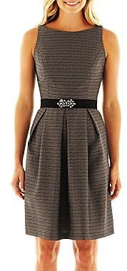 JCPenney 9 & Co.® Pleated Fit-and-Flare Dress