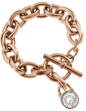Michael Kors Chain-Link Padlock Bracelet, Rose Golden