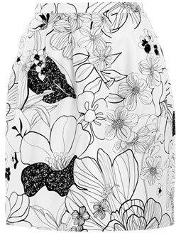 Raoul Floral bell skirt
