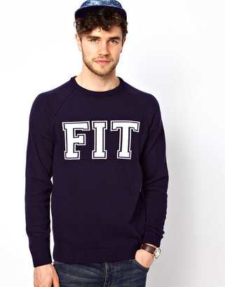 Asos Slogan Fit Sweater