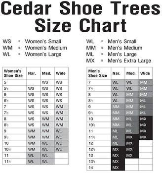 Container Store Men's Large Cedar Shoe Trees Set of 2