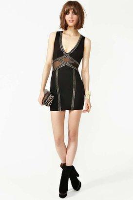 Nasty Gal Studded Mesh Dress