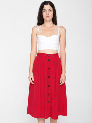 American Apparel Vintage Spotted Mid-Length Skirt