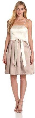 Isaac Mizrahi New York Women's Solid Satin Dress