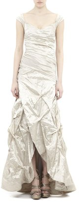 Nicole Miller Allison Techno Metal Gown