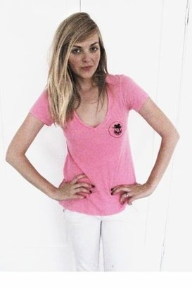 Wildfox Couture Love Potion Number 9 V-Neck Tee in Neon Pink