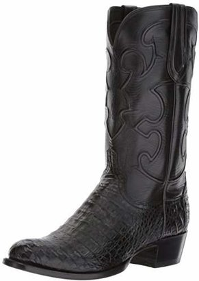 Lucchese Classics Men's Charles-blk Belly Croc/blk Derby Calf Riding Boot